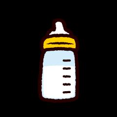哺乳瓶のイラスト(4カット)