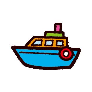 船のおもちゃのイラスト(2カラー)