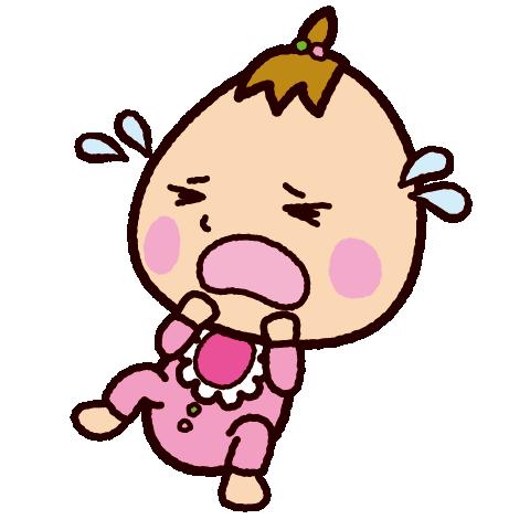 夜泣きする赤ちゃんのイラスト(2カット)