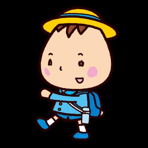 遠足のイラスト(制服)(3カット)