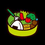 食べかけのお弁当のイラスト