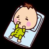 寝てる赤ちゃんのイラスト
