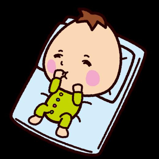 寝る赤ちゃんのイラスト(2カット)