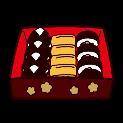 お重のイラスト(お弁当)(2カット)