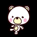 クマの人形のイラスト