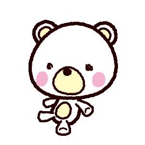 クマの人形(ぬいぐるみ)のイラスト(3カット)
