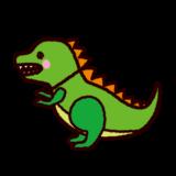 恐竜のおもちゃのイラスト