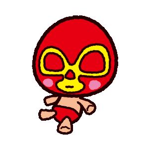 マスクマンの人形のイラスト(2カット)