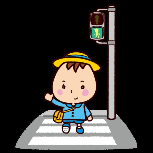 交通安全のイラスト(横断歩道-青信号)