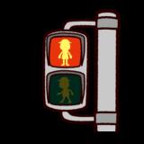 歩行者用赤信号のイラスト