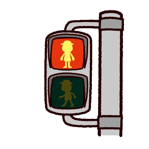信号機のイラスト(歩行者用-赤信号)