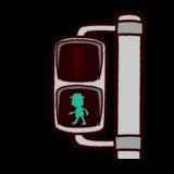 歩行者用青信号のイラスト