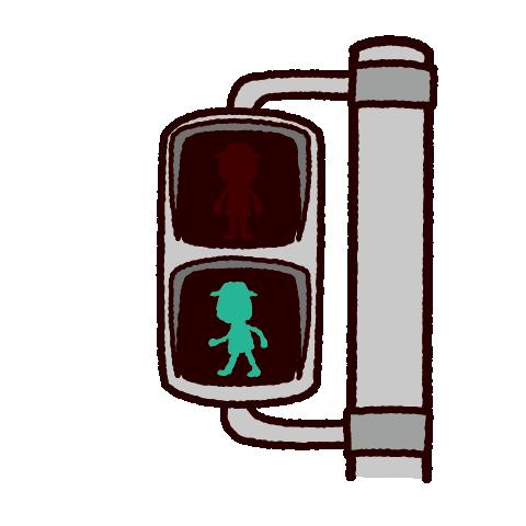 信号機のイラスト(歩行者用-青信号)