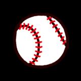 野球ボールのイラスト(硬球)