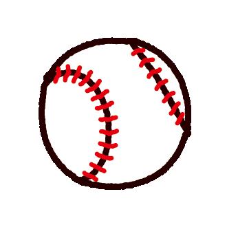 野球ボール(硬球)のイラスト