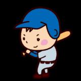 少年野球バッターのイラスト