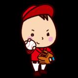 少年野球ピッチャーのイラスト