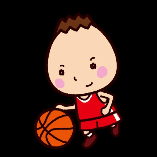ミニバスケットボールのイラスト