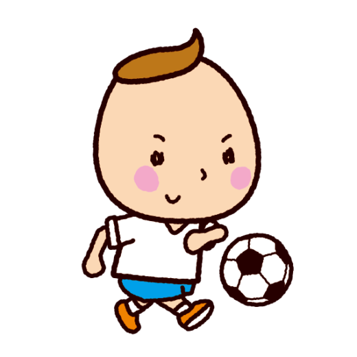 サッカーをする子供のイラスト