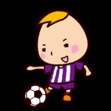 少年サッカーのイラスト