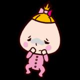 病気の赤ちゃんのイラスト