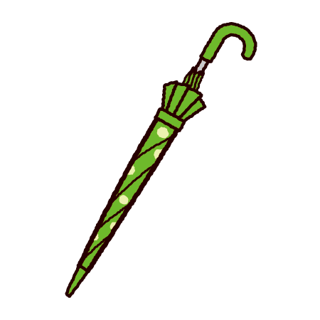 巻いた傘のイラスト