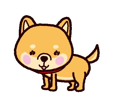 柴犬のイラスト(赤毛)
