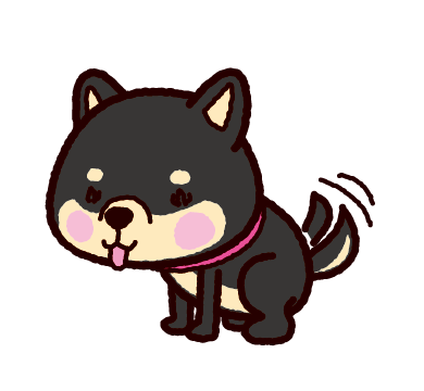 柴犬のイラスト(黒毛)