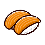 お寿司のイラスト(サーモン)