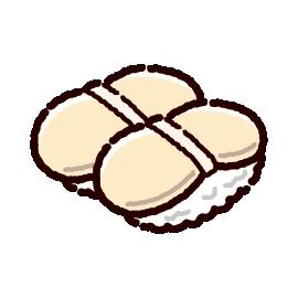 お寿司のイラスト(ホタテ)(2カット)
