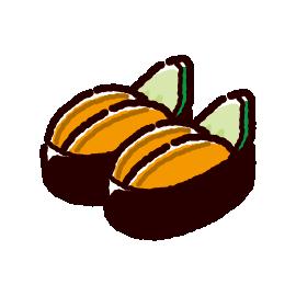 お寿司のイラスト(ウニ)(2カット)