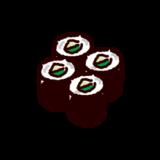 カッパ巻きのイラスト(巻き寿司)