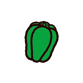 野菜のイラスト(ピーマン)