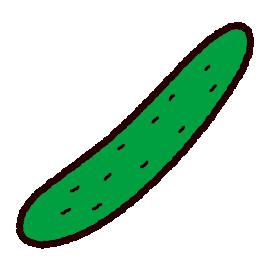 野菜のイラスト(きゅうり)