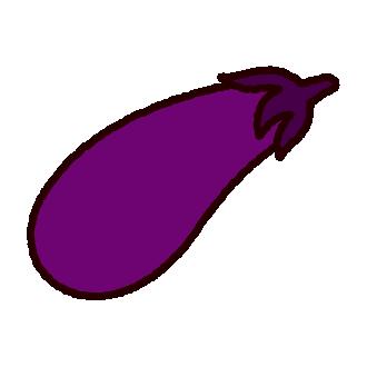 野菜のイラスト(茄子)