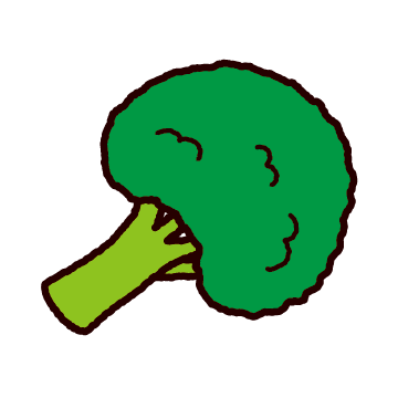 野菜のイラスト(ブロッコリー)(2カット)