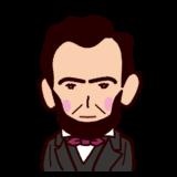 リンカーンの似顔絵イラスト