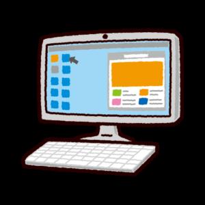 パソコンのイラスト(一体型)