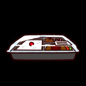コンビニ弁当のイラスト