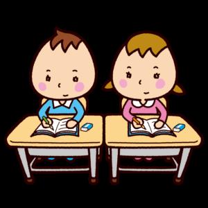 学校のイラスト(授業中)