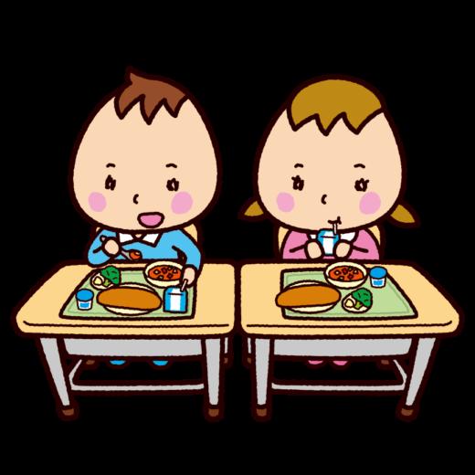 学校のイラスト(給食)