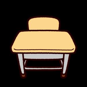 学校のイラスト(机)