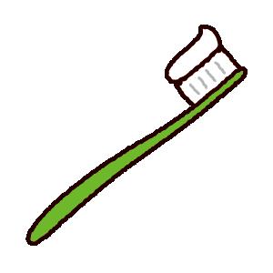 歯ブラシのイラスト(歯磨き粉付き)