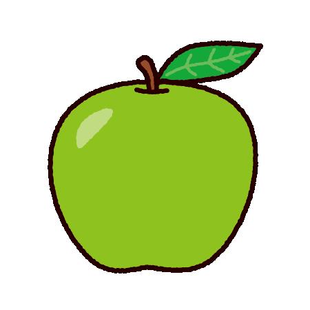 青りんごのイラスト