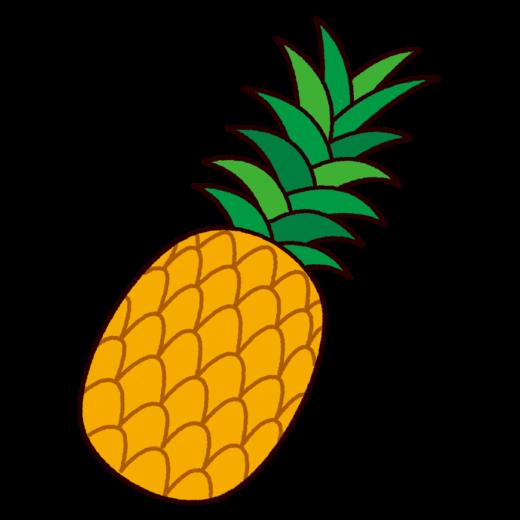 パイナップルのかわいいイラスト