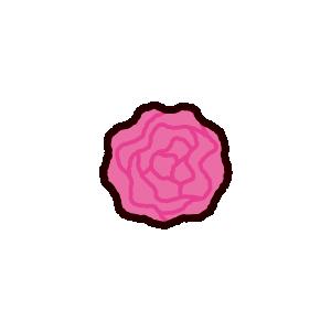 紙花のイラスト
