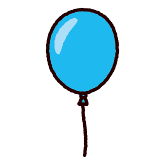 風船のイラスト(4カット)