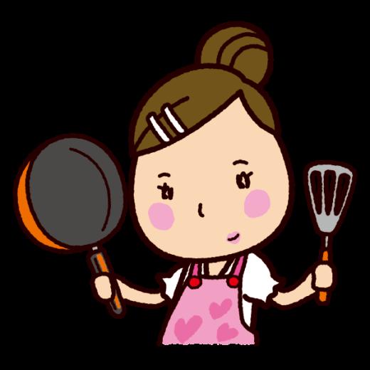 料理のイラスト(フライパン)