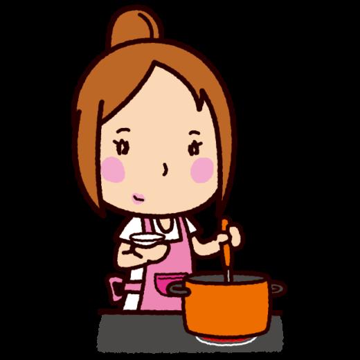 料理のイラスト(味見)
