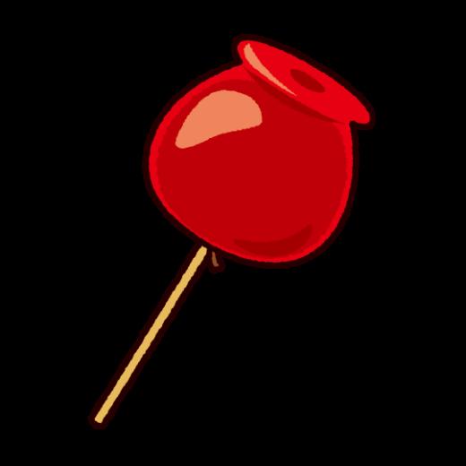りんご飴のイラスト(祭り)
